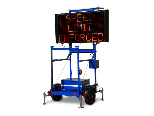 VMS LED-Trailer for Hire or Sale - Hireco Plant and Tool - www.hirecopt.ie